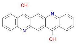 안료-보라색 19- 분자-구조